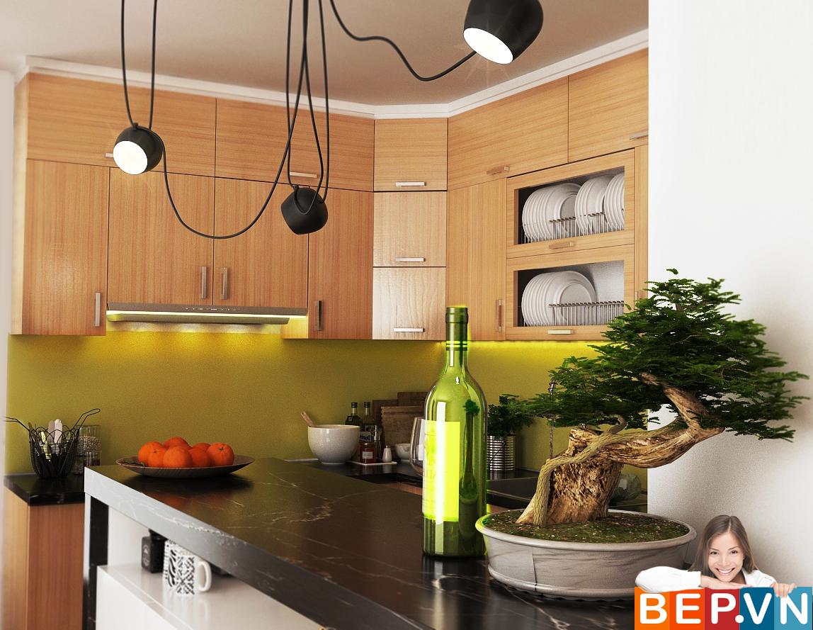 3 thiết kế tủ bếp ấn tượng cho phòng bếp nhỏ - Ảnh 3
